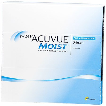 Acuvue 1-DAY ACUVUE MOIST for ASTIGMATISM 90pk contacts