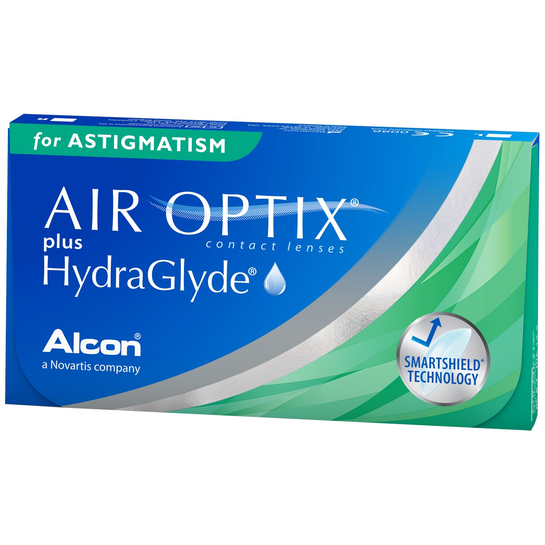 AIR OPTIX plus HYDRAGLYDE for Astigmatism contact lenses