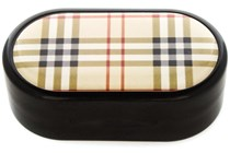 Amcon Plaid Designer Contact Lens Case