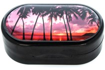 Amcon Purple Sunset Designer Contact Lens Case