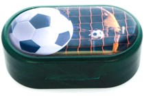 Amcon Soccer Green Designer Contact Lens Case