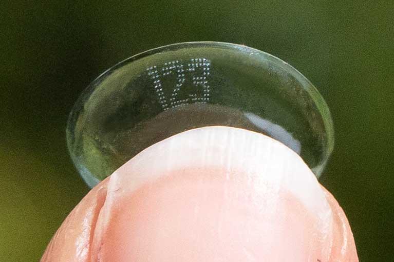 Contact lens 1-2-3 markings